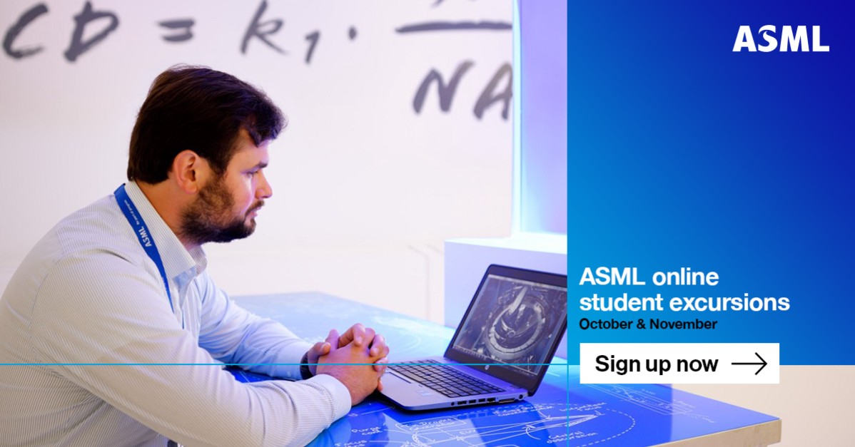 Sign up now for the ASML online excursion